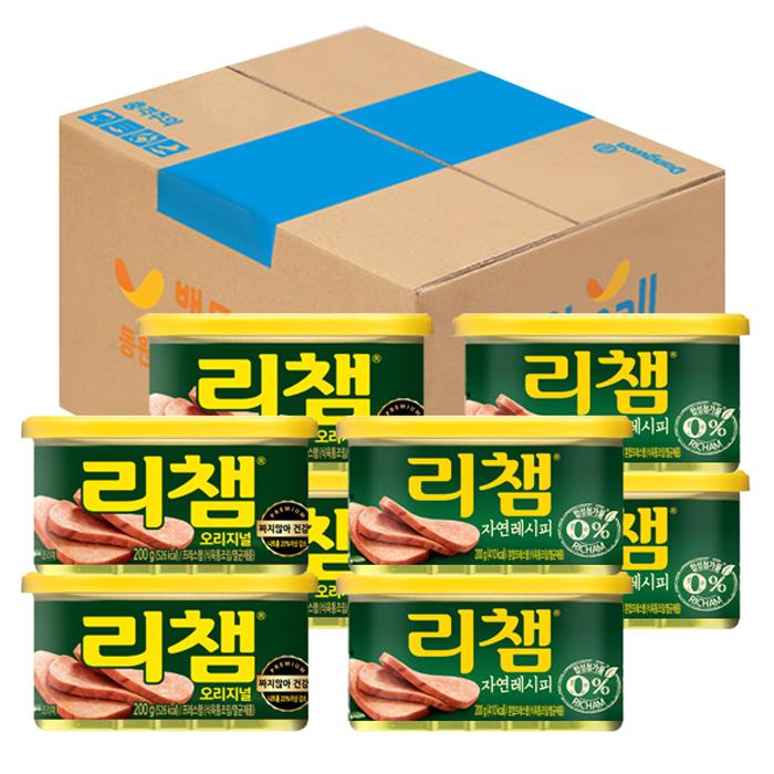 리챔 오리지널 200g x 4p + 자연레시피 200g x 4p, 1세트