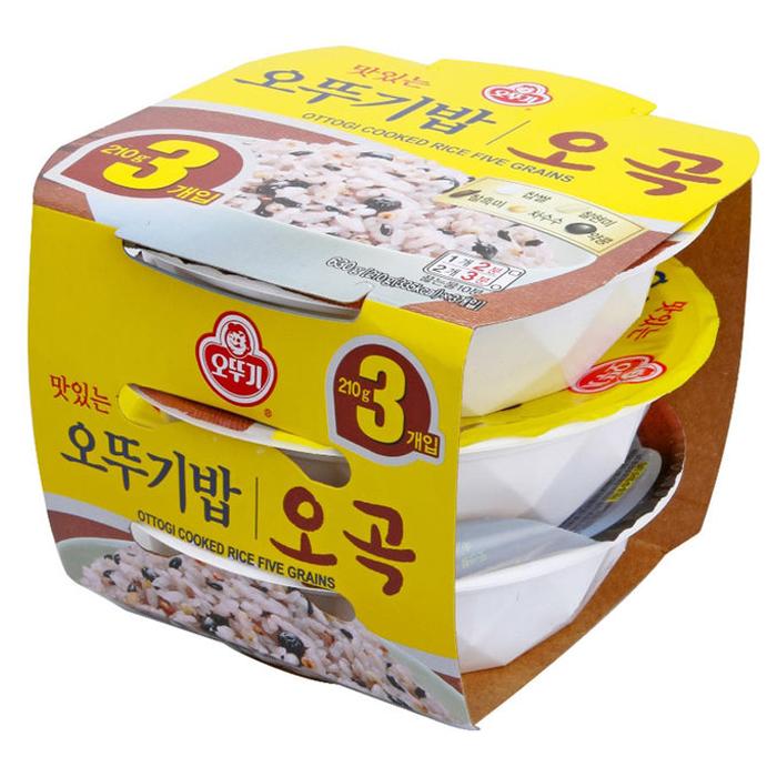 오뚜기 맛있는오뚜기밥 오곡, 210g, 3개