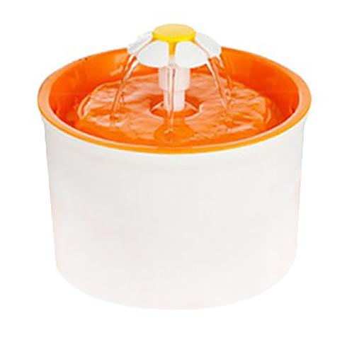블럭마트 고양이 강아지 가습겸용 자동 분수 물통, 오렌지, 1개