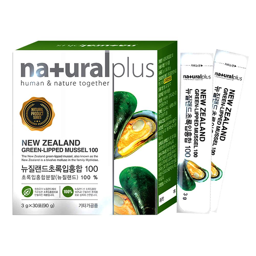 네츄럴플러스 뉴질랜드 초록입홍합100 건강환 30p, 90g, 1개