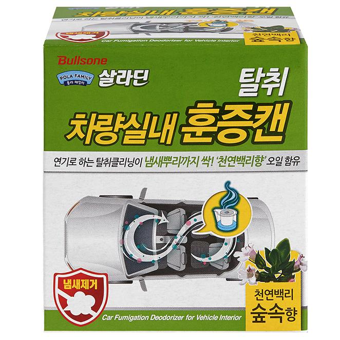 폴라패밀리 차량실내용 훈증캔 숲속, 3.4g, 1개