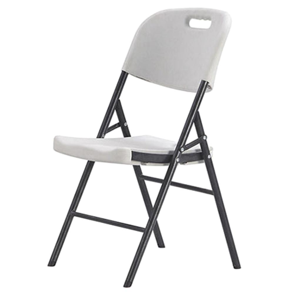 오에이데스크 브로몰딩 접이식 의자, 화이트