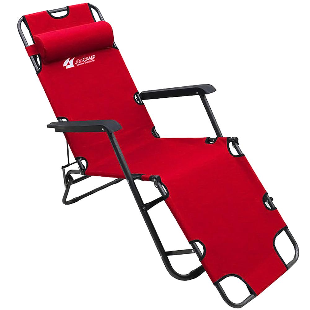 조아캠프 3단 침대의자 특대, 레드, 1개