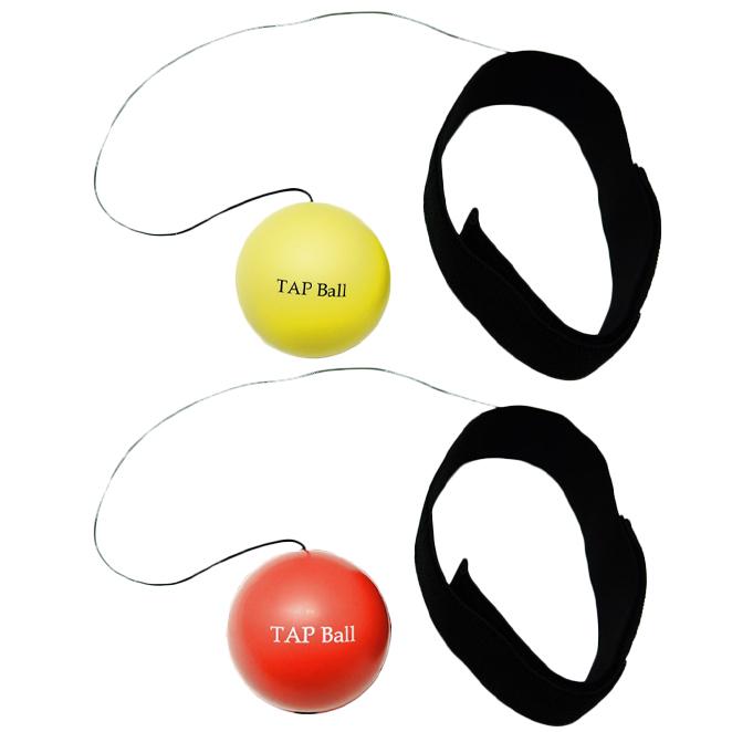 크리에이티브복싱 TAP볼 초보자용 + 복서용 세트, 레드, 옐로우