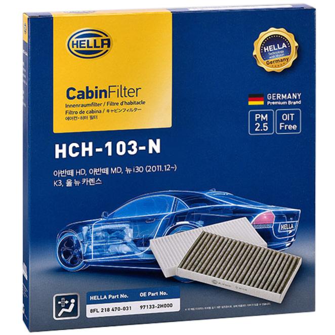 헬라 차량용 에어컨 필터, H103(아반떼 MD, HD, K3, 니로, 아이오닉), 1개