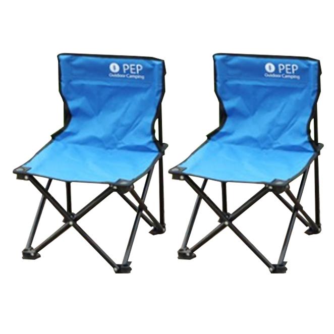 PEP 휴대용 접이식 캠핑의자 소형, 블루, 2개