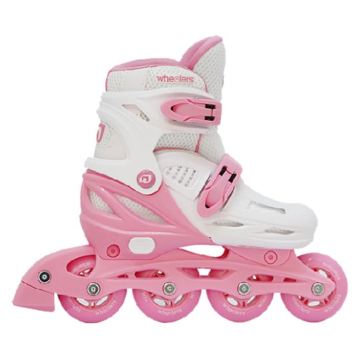 휠러스 아동용 에이스2 인라인 스케이트 WI-180, 핑크