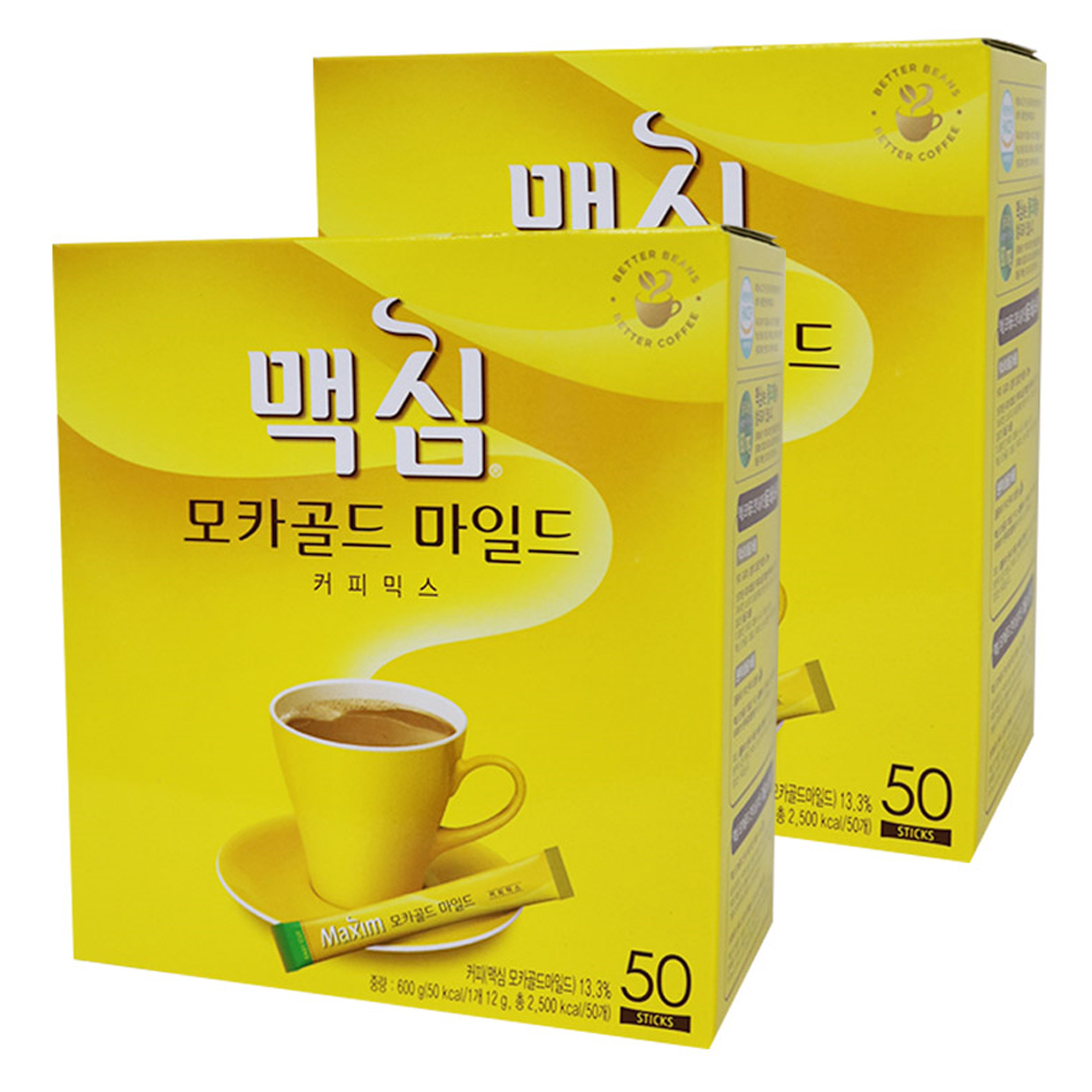 맥심 모카골드 마일드 커피믹스, 12g, 100개
