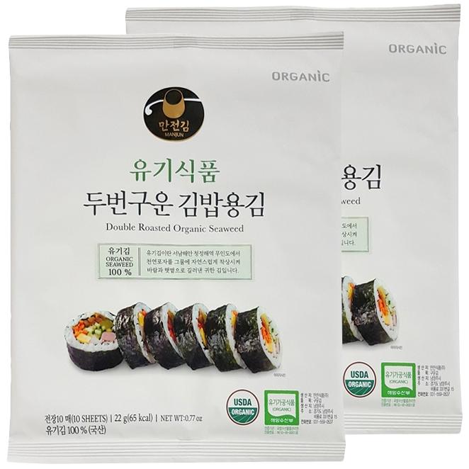 [만전김] 유기식품 구운 김밥김 22g(10매), 22g, 2개