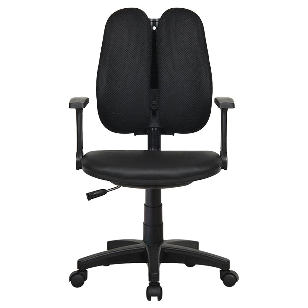 이편한의자 마블 3001 메쉬 의자, 블랙