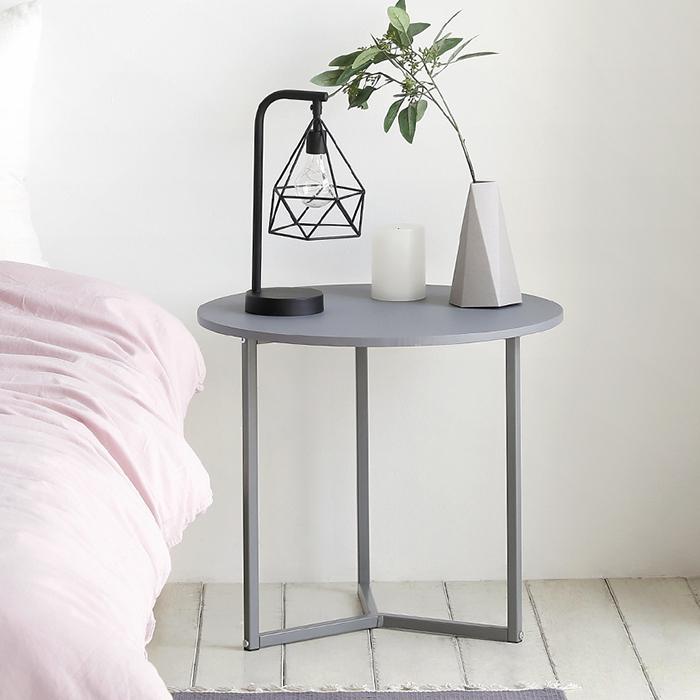 룸앤홈 노르딕 원형 테이블, 그레이