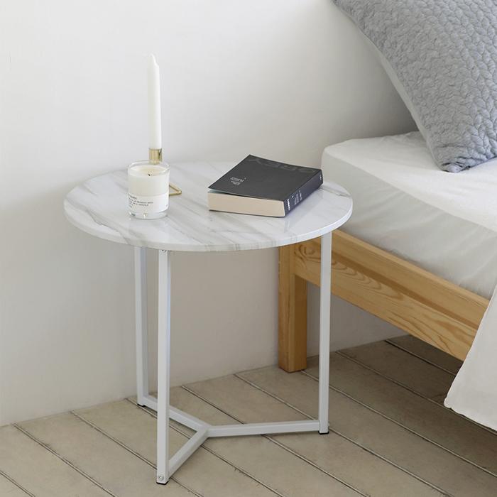 룸앤홈 노르딕 원형 테이블, 마블