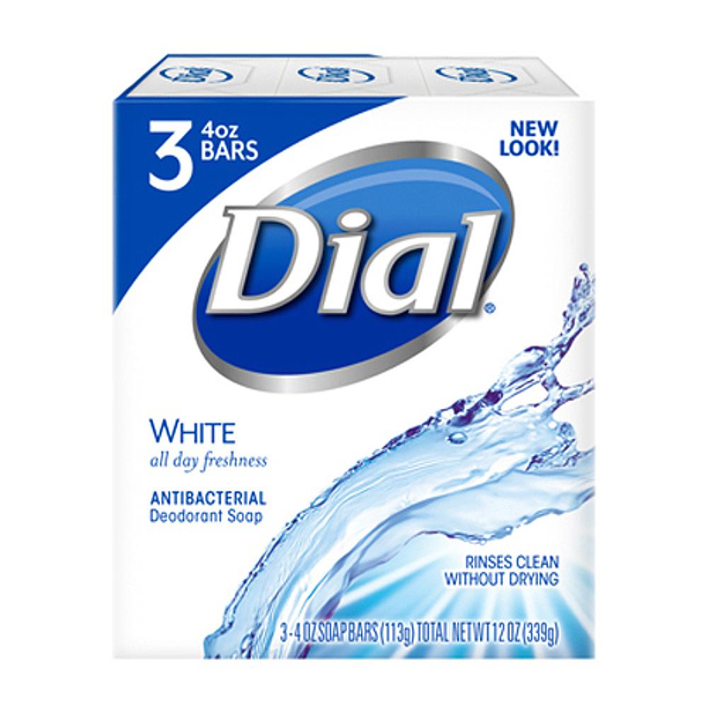 다이알 화이트 항균 화장비누 3개입, 339g, 1개