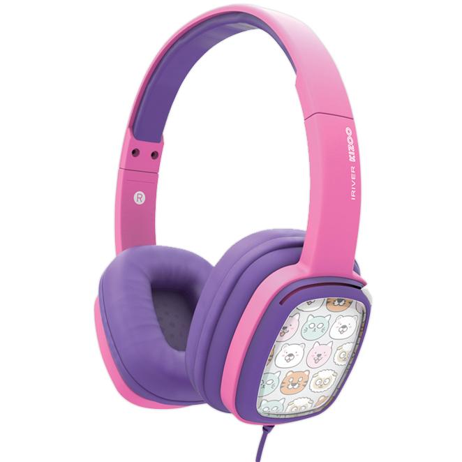 아이리버 KIZOO 어린이 헤드폰, 핑크, IKH-100