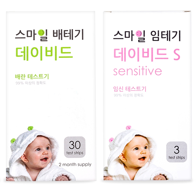 스마일랩 스마일 데이비드 배란테스트기 30p + 데이비드 S 임신테스트기 3p, 1세트