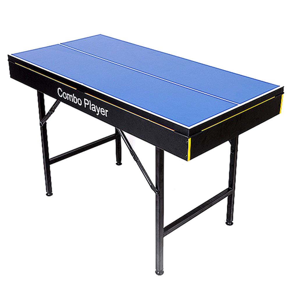 우성 5in1 콤보플레이어 포켓볼 탁구 하키 컬링 볼링 테이블스포츠 세트, 혼합 색상