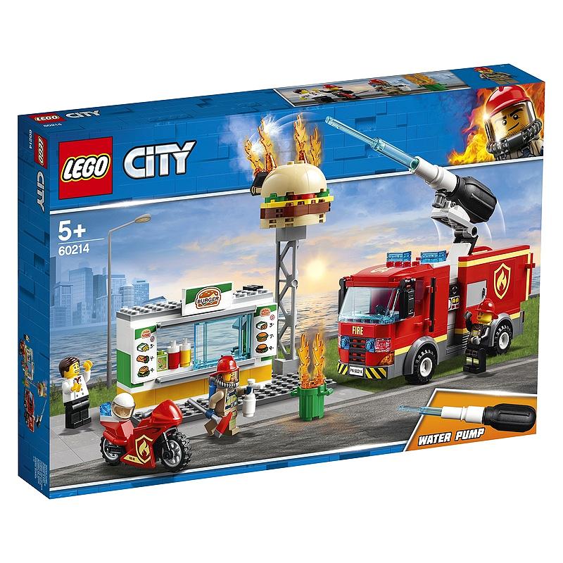 레고 시티 햄버거 가게 화재 구조 완구 60214, 혼합 색상