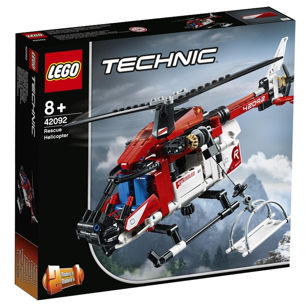 레고 테크닉 구조 헬리콥터 완구 42092, 혼합 색상