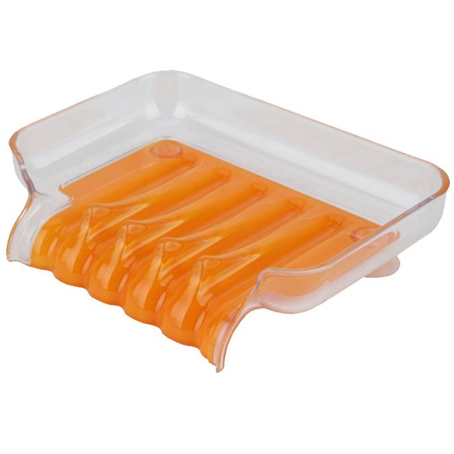 새드리 물 잘빠지는 비누받침 L1763SD, 오렌지, 1개