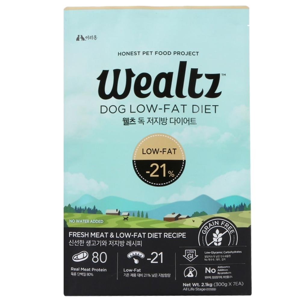 웰츠 독 저지방 다이어트 강아지 사료, 2.1kg, 1개