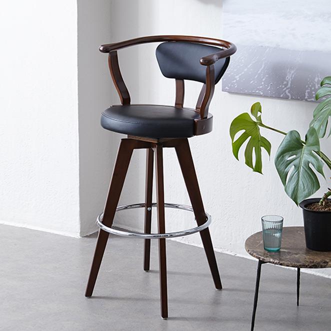 모디디 원목 스핀 바 의자, 303B