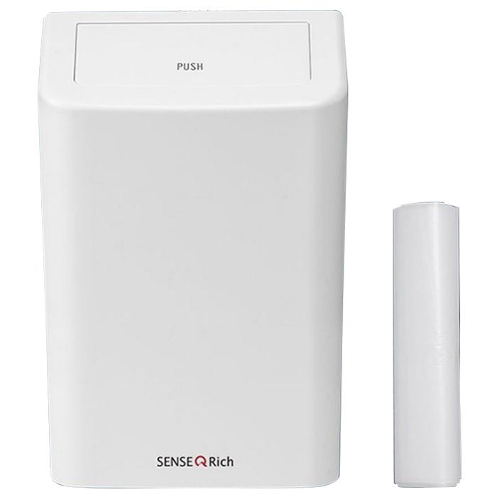 센스큐 리치 6L 벽걸이휴지통 + 본품내부장착 전용비닐봉투 30p, 신상화이트, 1세트