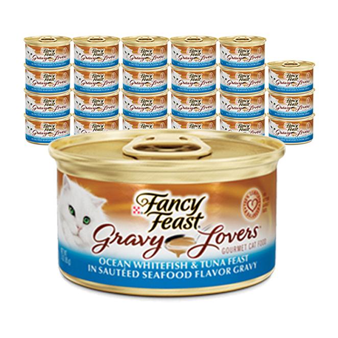 퓨리나 팬시피스트 화이트라벨 그레이비 흰살생선 주식캔, 생선, 85g