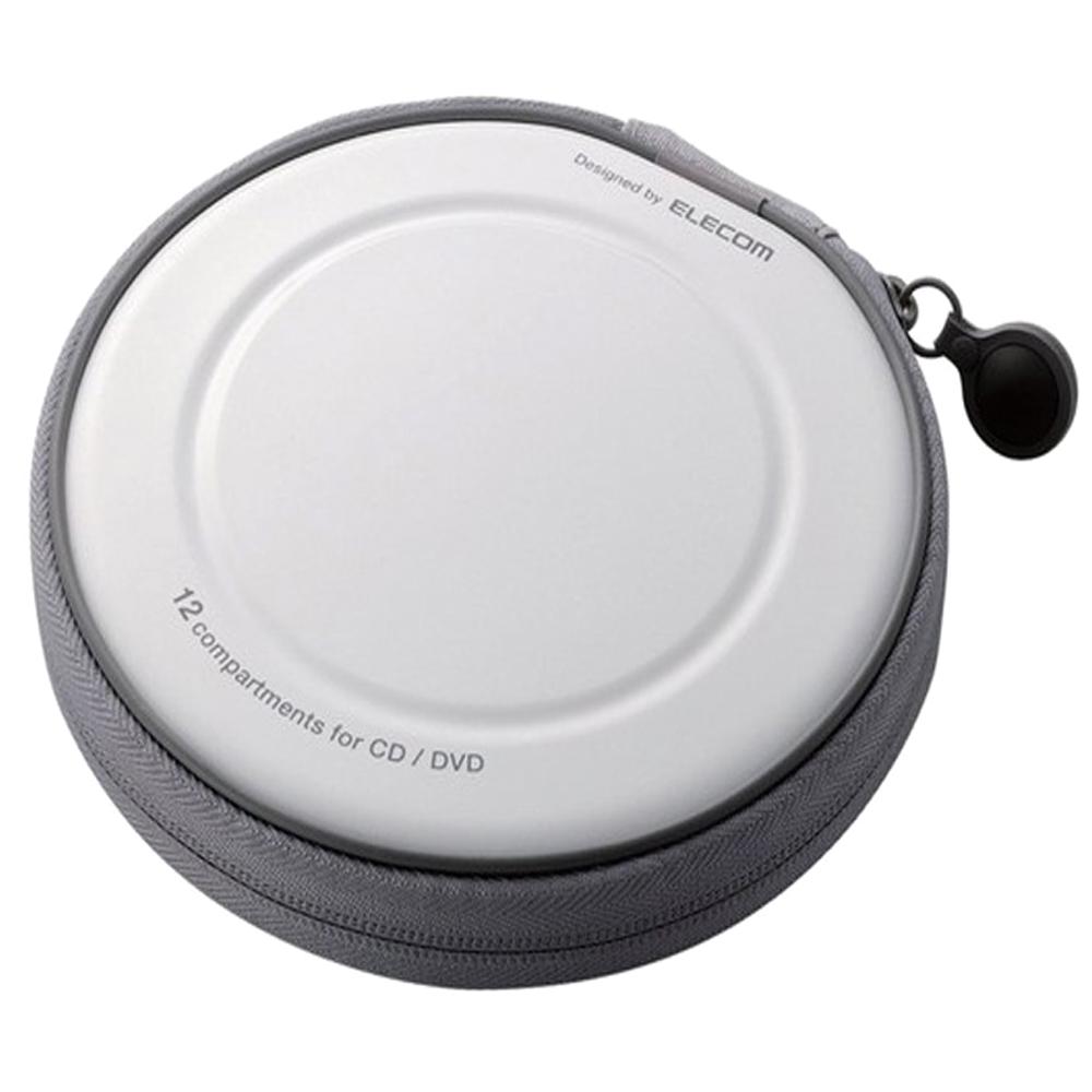 세미 하드 CD 케이스 12매, CCD-H12WH, 화이트