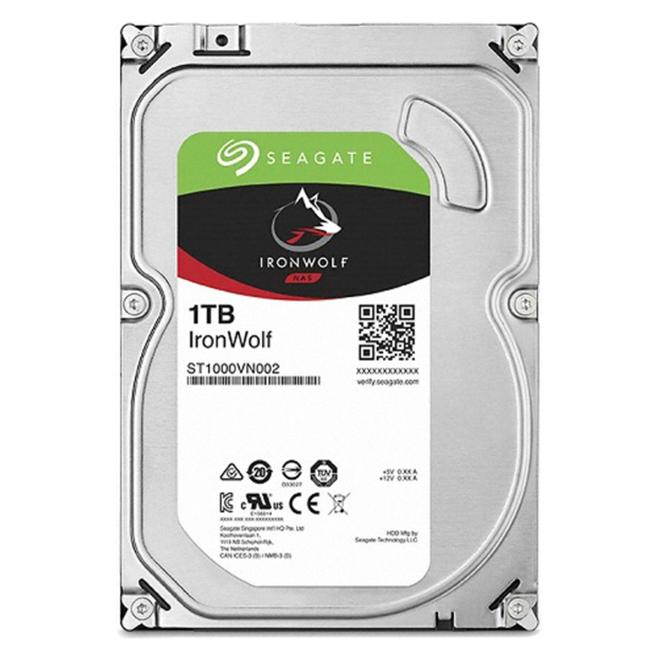 씨게이트 IronWolf SATA3 HDD, ST1000VN002, 1TB