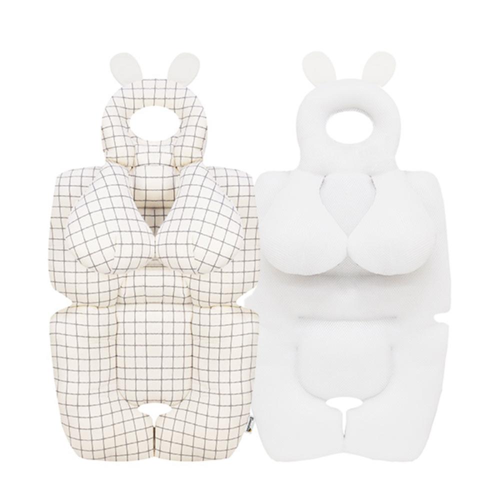 보니숑 짱구베개 + 목베개 일체형 사계절 유모차라이너, 모던체크