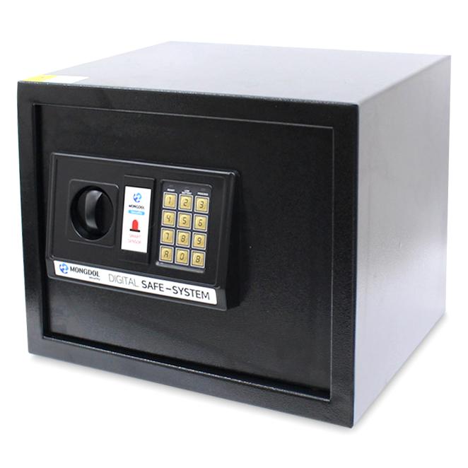 오에이데스크 디지털 충격 감지 안전 금고 30, 블랙
