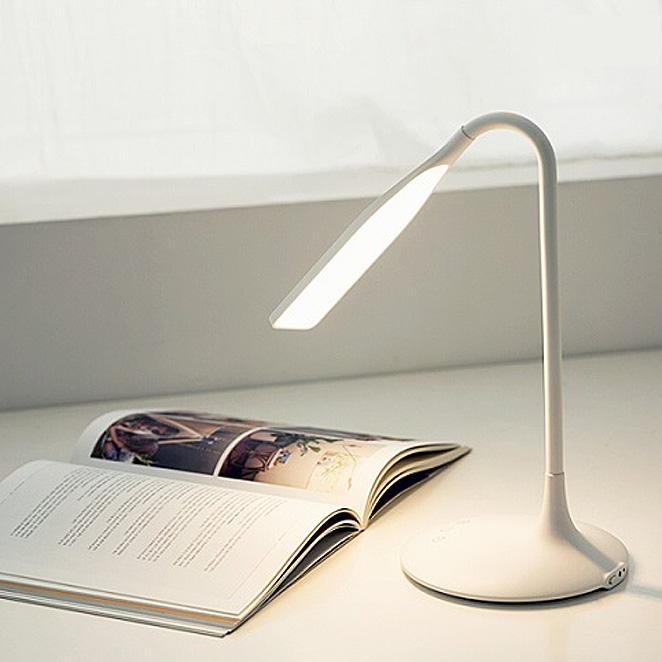 오아 플라이트 LED 학습용 책상 무선 USB 스탠드 침대 공부 독서등, 화이트