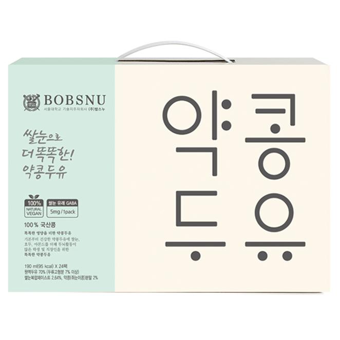 서울대밥스누 쌀눈으로 더 똑똑한 약콩두유, 24개, 190ml