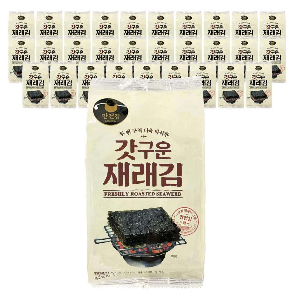 만전김 갓구운 재래김 도시락, 30개입, 4.5g