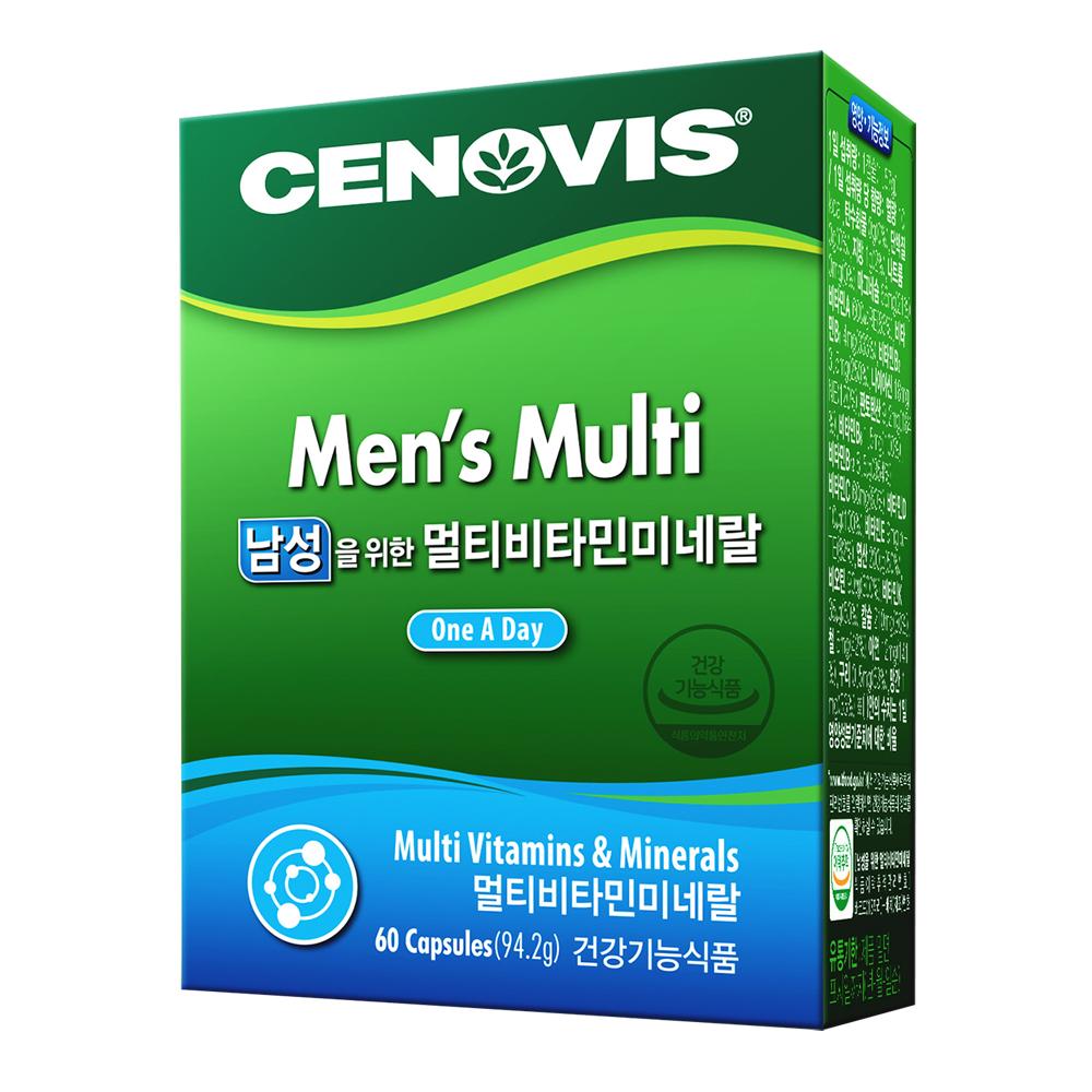 세노비스 남성용 멀티비타민 미네랄, 60정, 1개