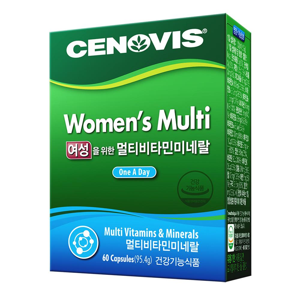 세노비스 여성용 멀티비타민미네랄, 60캡슐, 1개