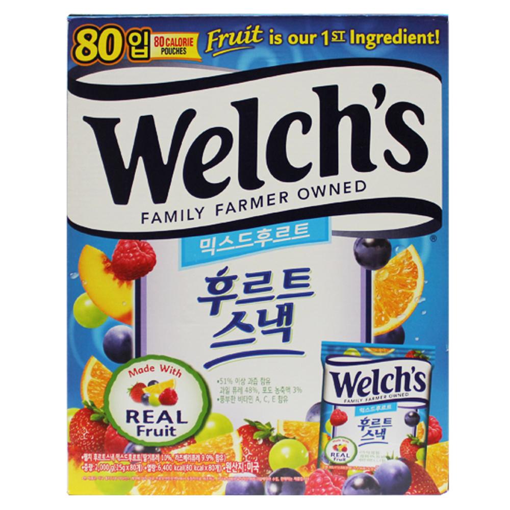 웰치스 믹스드 후르트스낵 젤리, 2000g, 1개
