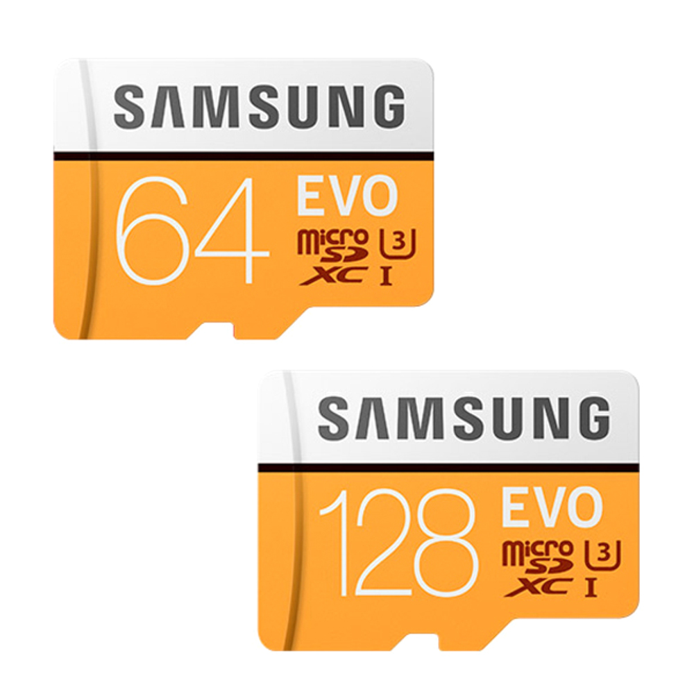 삼성전자 EVO 마이크로SD 메모리카드 64GB +128GB + SD어댑터 2p, 1세트