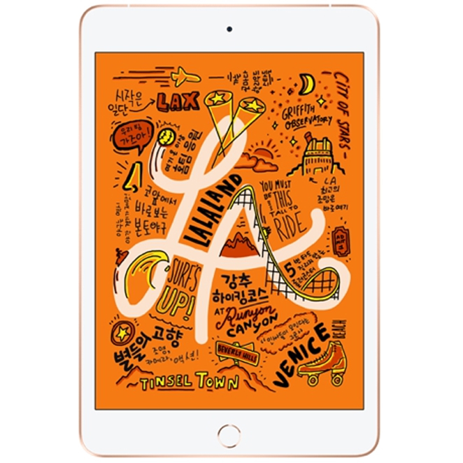 Apple 2019년 iPad mini 5세대, Wi-Fi+Cellular, 64GB, Gold