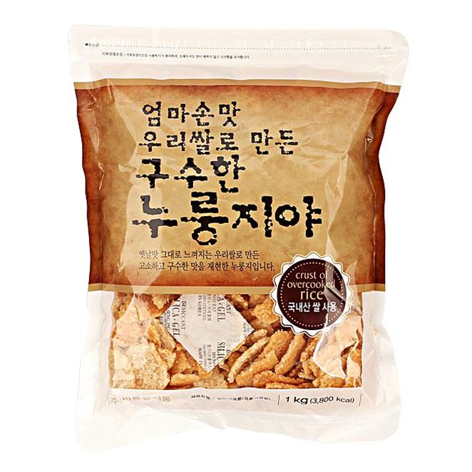 [누룽지] 바른들식품 우리쌀로 만든 구수한 누룽지야, 1kg, 1개 - 랭킹8위 (7950원)