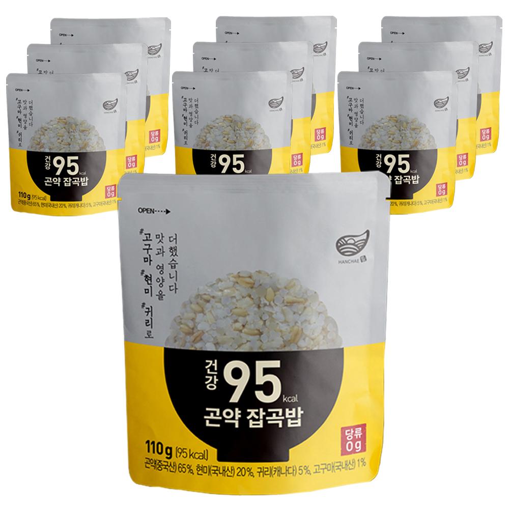 한채 건강 95kcal 곤약 잡곡밥, 110g, 10개입