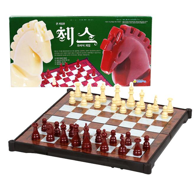 큰게임판 체스 보드게임 주니어보드게임 체스게임, 단일상품, 5세이상