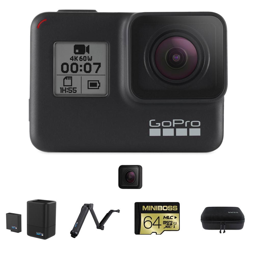 고프로 히어로7 블랙 SPCH1 + 64GB 메모리 + 듀얼 배터리 충전기 + 배터리 + 케이시 케이스 + 3Way 셀카봉 + 교체용 보호 렌즈