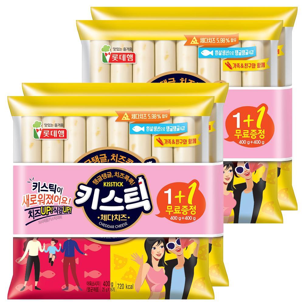 롯데햄 키스틱 소시지, 25g, 64개입