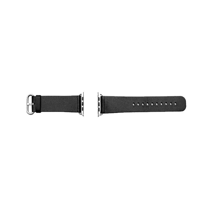 우수스 애플워치 3/4/5 심플 클래식 버클 가죽 밴드 (38/40mm 호환 가능), 블랙, 1개