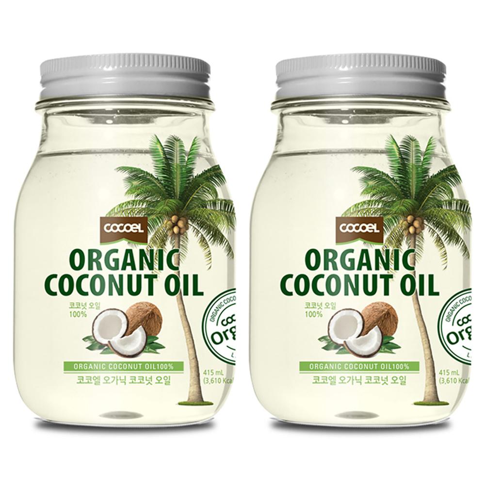코코엘 오가닉 코코넛오일, 415ml, 2개