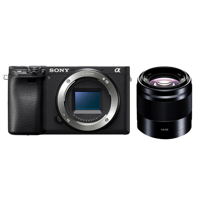 소니 알파 A6400 미러리스카메라 바디 블랙 + SEL50F18 패키지, ILCE-6400