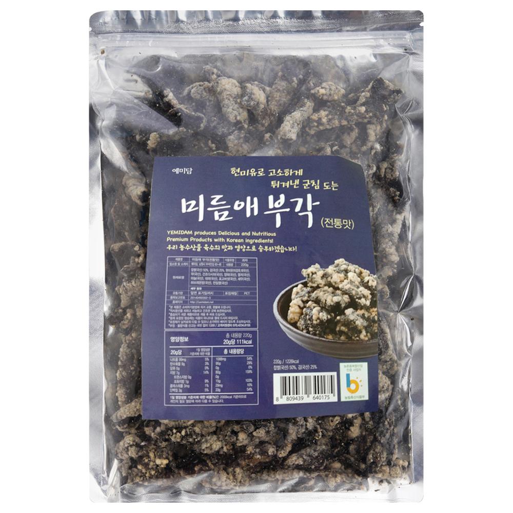 미듬애 부각 전통맛, 220g, 1개