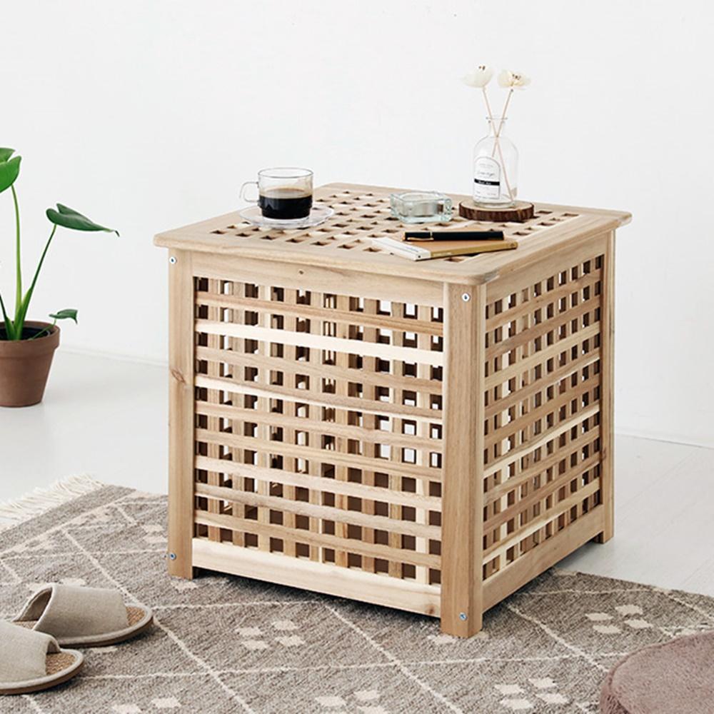 마켓비 NETUD 50x50 아카시아 DIY 원목수납테이블