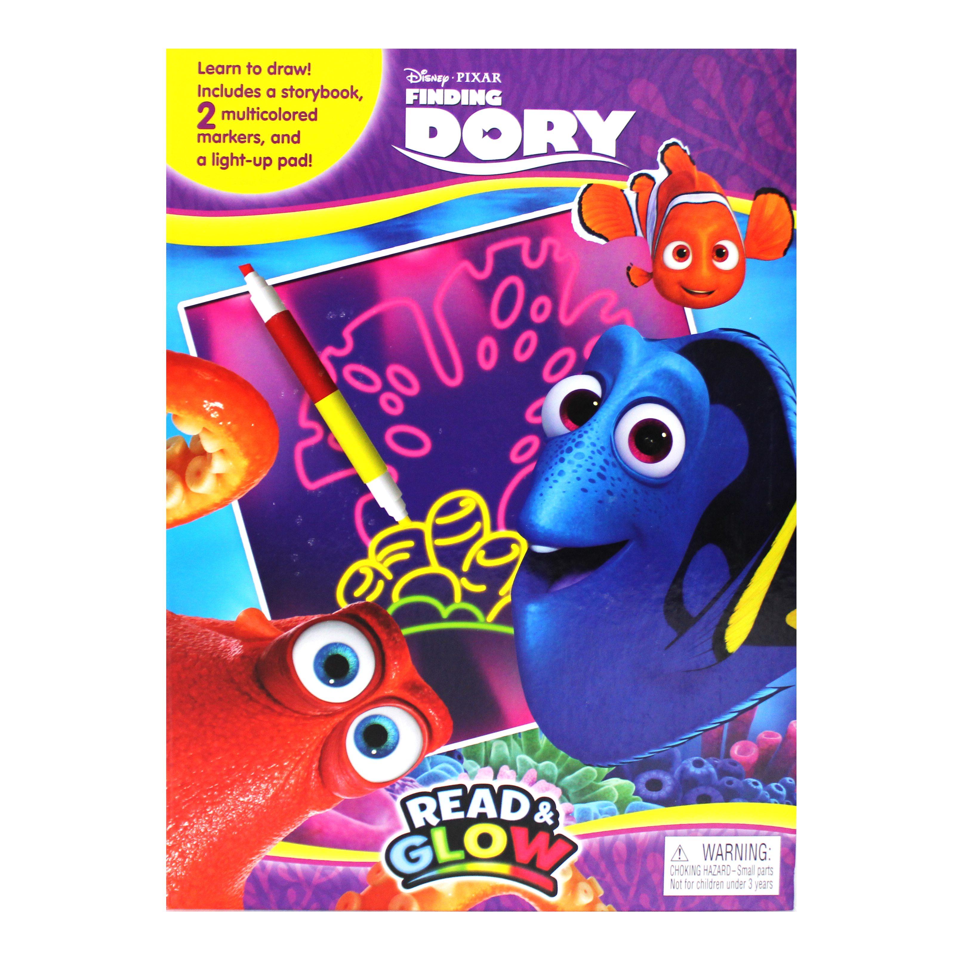 디즈니 도리를 찾아라 리드앤글로우 네온보드북, Phidal Publishing Inc